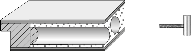 Röhrenspanplatte mit 2tlg. Bändern V0020 WF