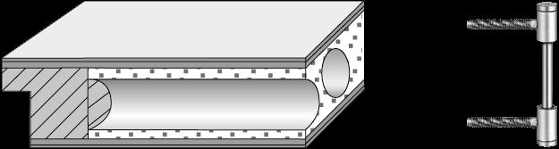 Röhrenspanplatte mit 3tlg. Bändern V0026 WF