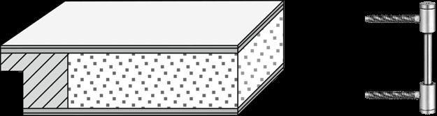 Vollspanplatte mit 3tlg. Bändern V0026 WF