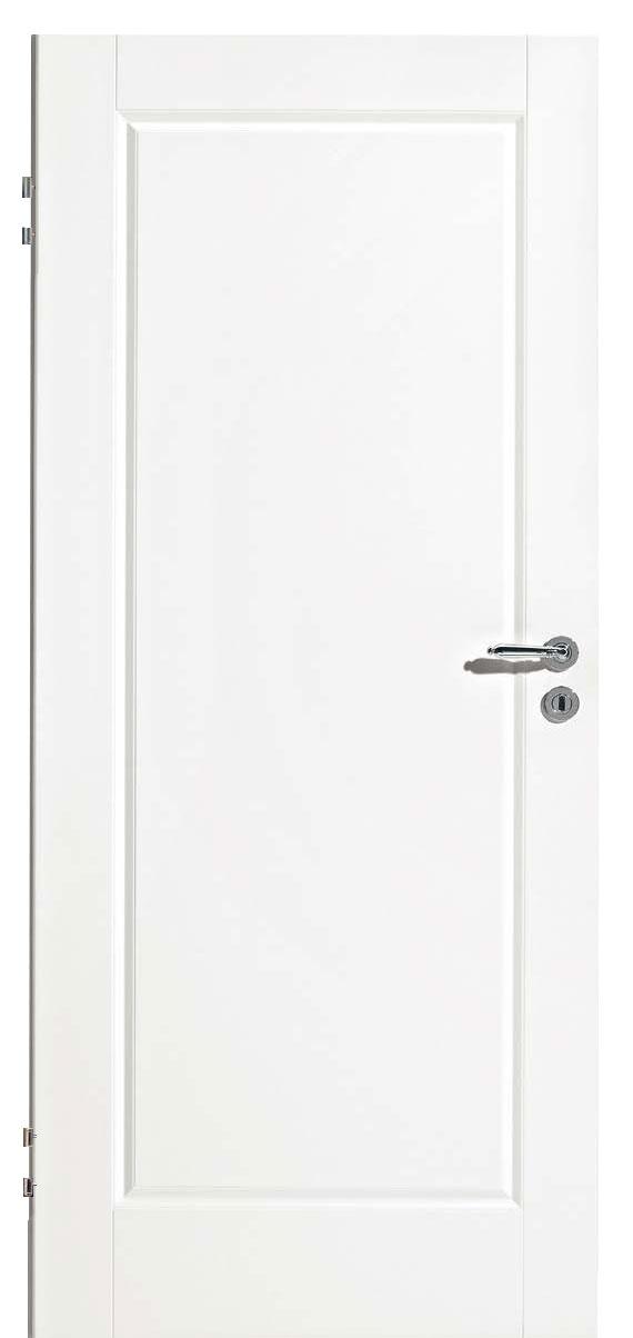 Zimmertür Weißlack Classic 9010 mit einer großen Kassette