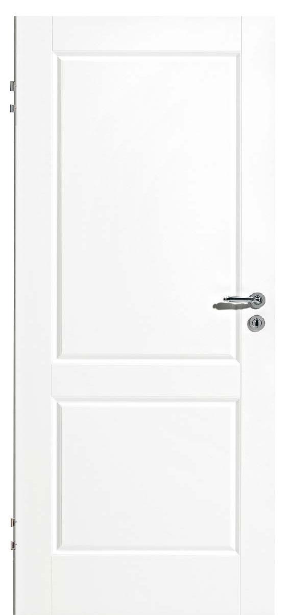 Zimmertür Weißlack Classic 9010 mit zwei Kassetten
