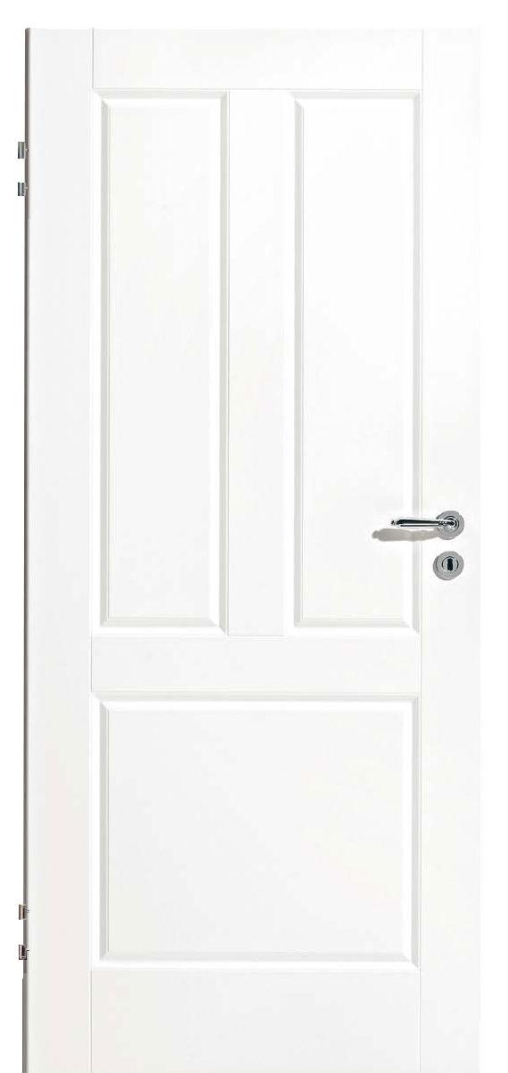Zimmertür Weißlack Classic 9010 mit drei Kassetten