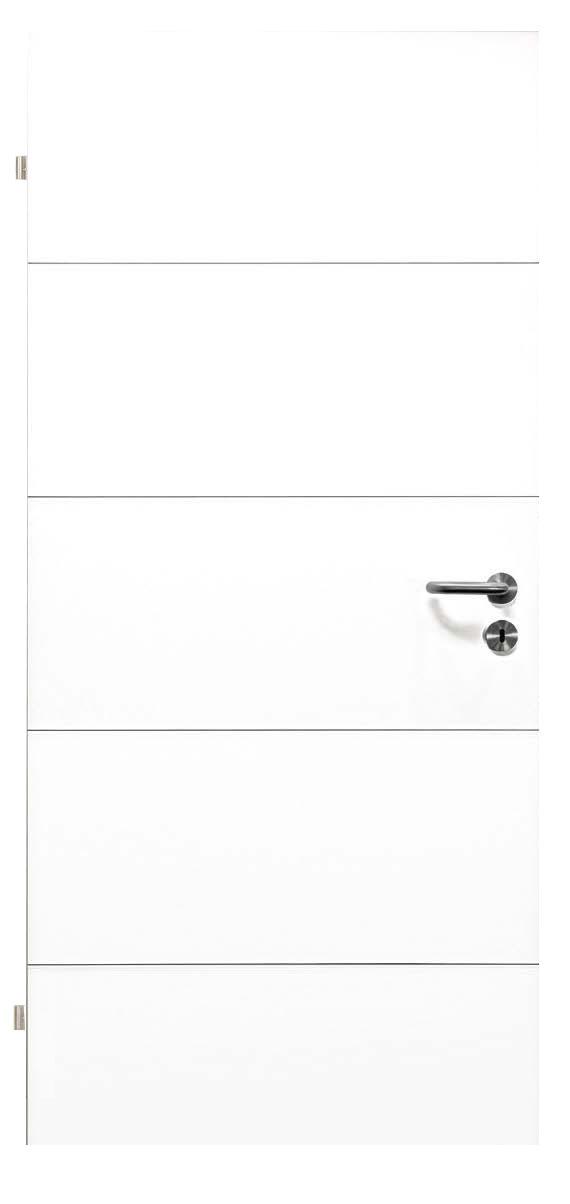 Innentüren in weiß mit vier Rillen quer