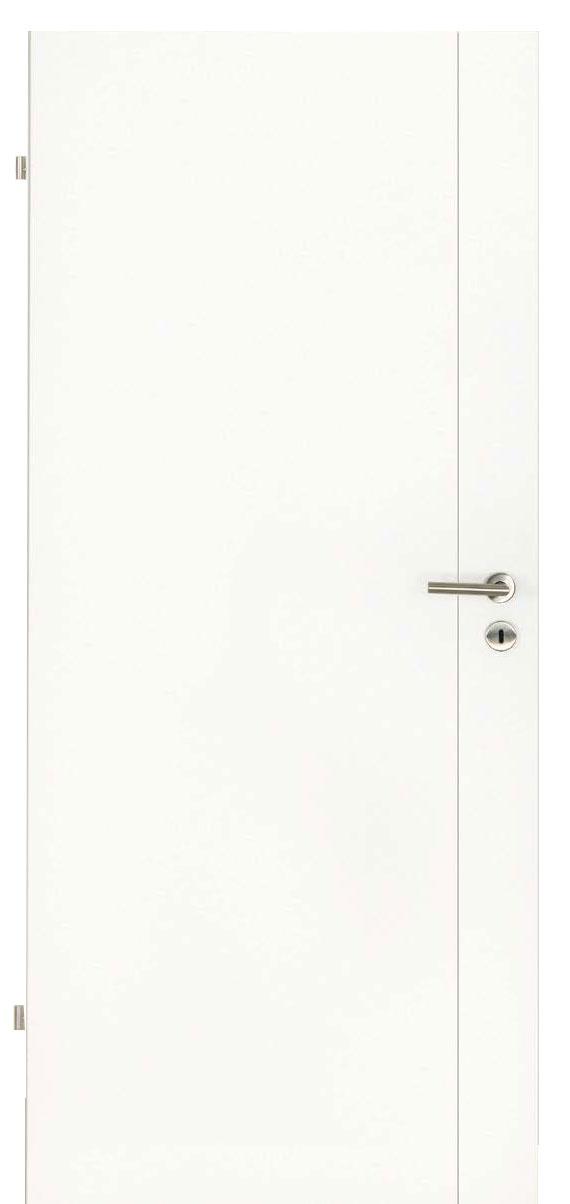 Innentüren in weiß mit einem Streifen längs