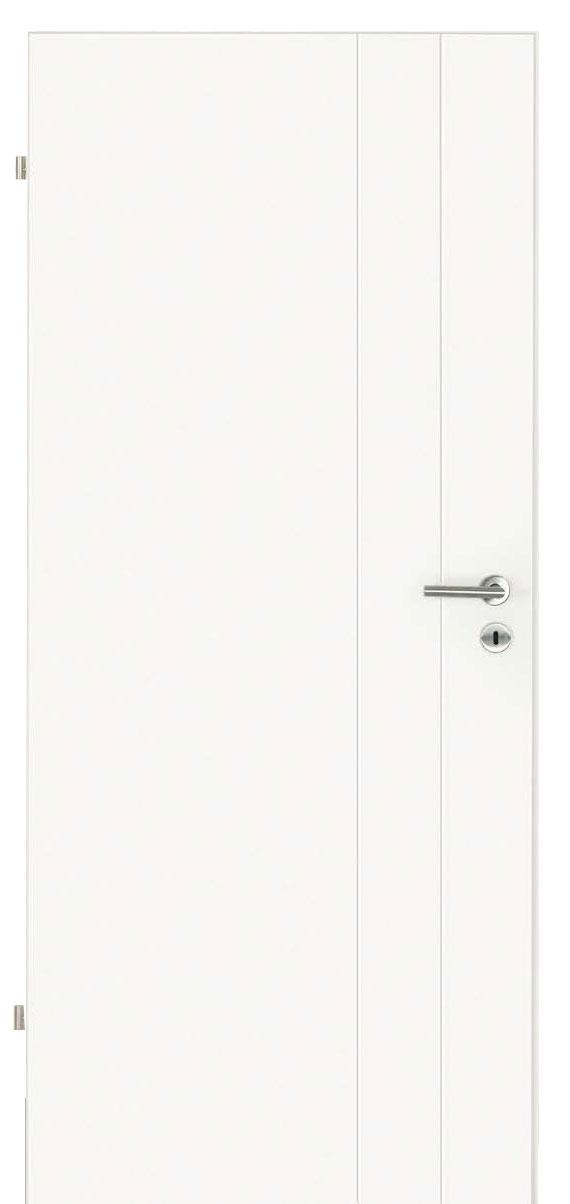 Innentüren in weiß mit zwei Streifen längs