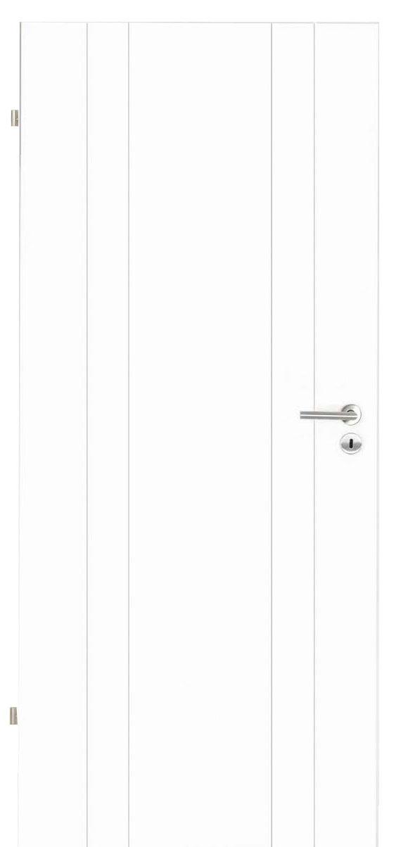 Innentüren in weiß mit vier Streifen längs