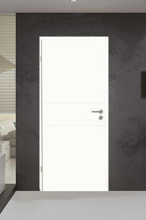 Innentüren in weiß mit zwei Streifen quer