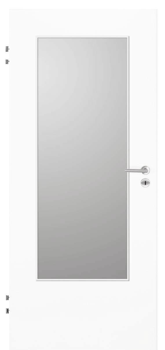 Zimmertür Weißlack 9016 mit DIN-LA