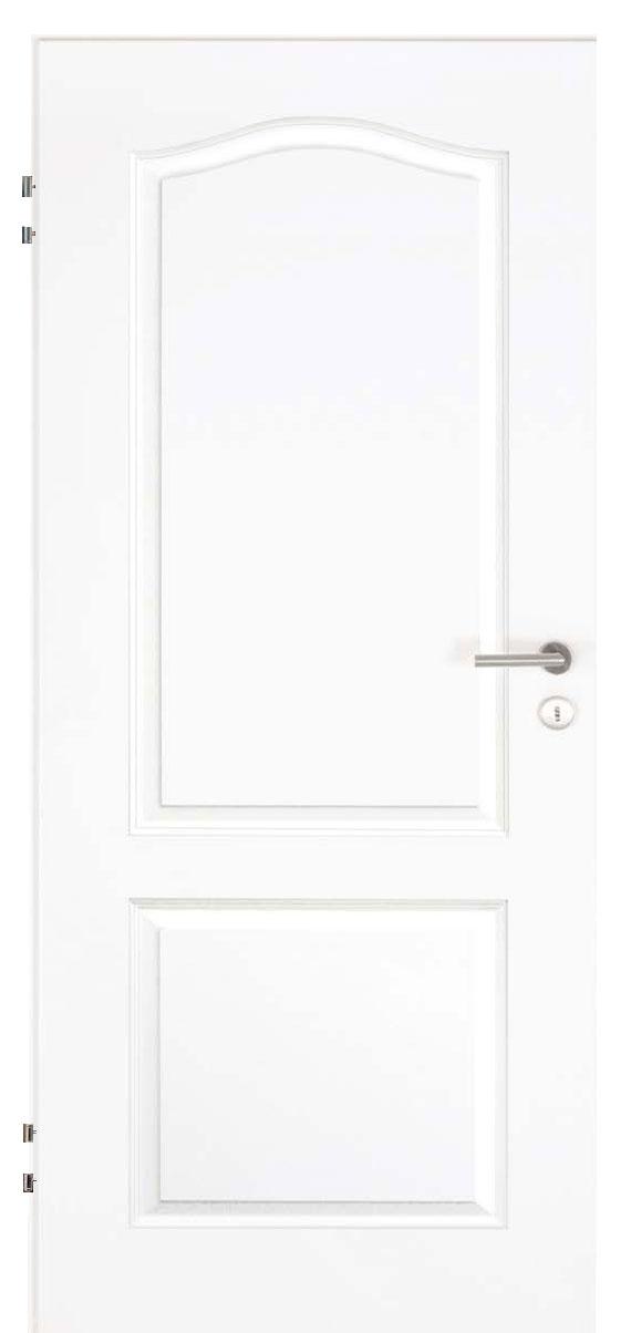 Zimmertür Weißlack Stil 9010 mit zwei Füllungen