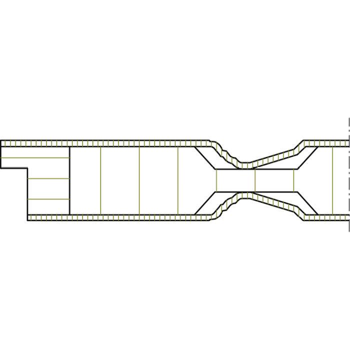Detail Skizze Innentür / Zimmertür Formelle mit formgepresster Füllung
