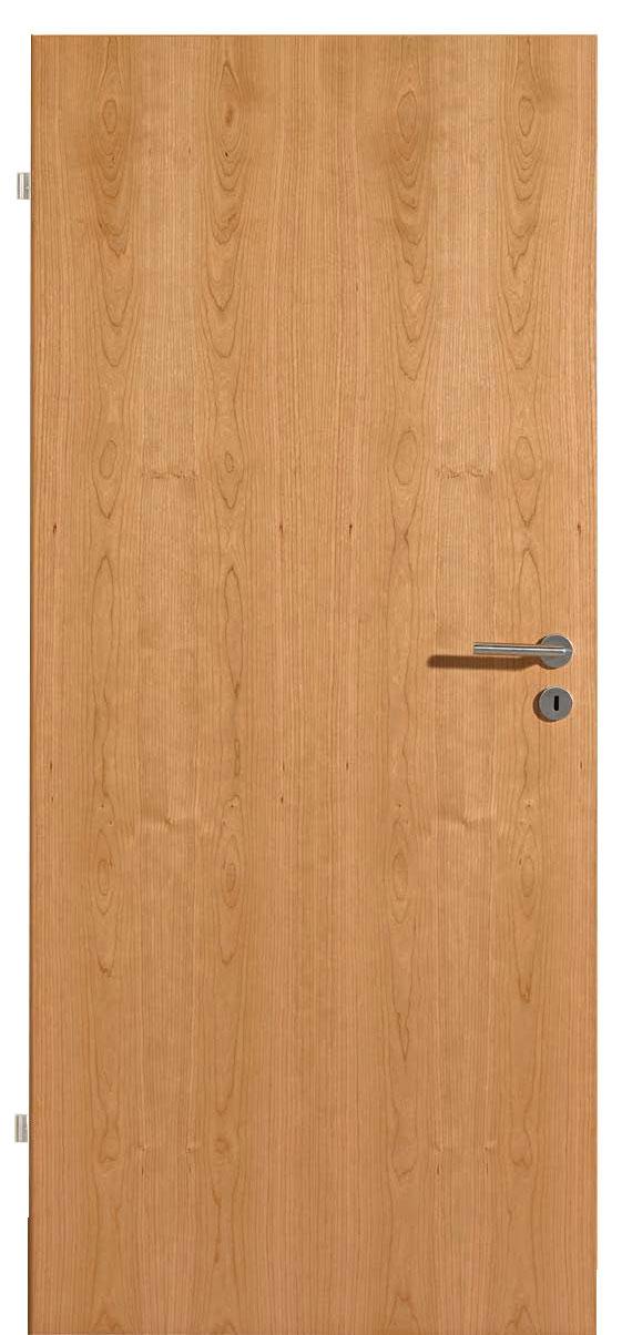 Zimmertür Kirschbaum echtholzfurniert längs