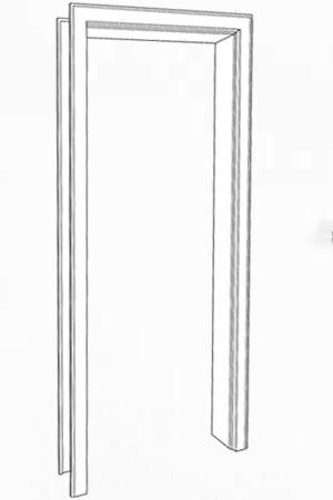 Zarge Weißlack 9016
