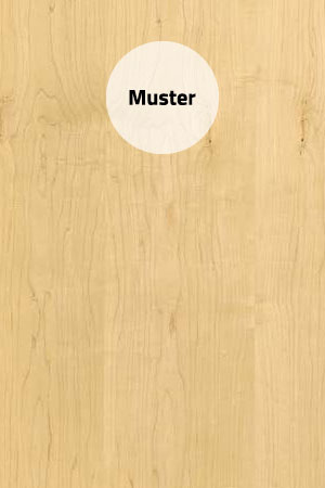 Muster Furnier can. Ahorn Natur