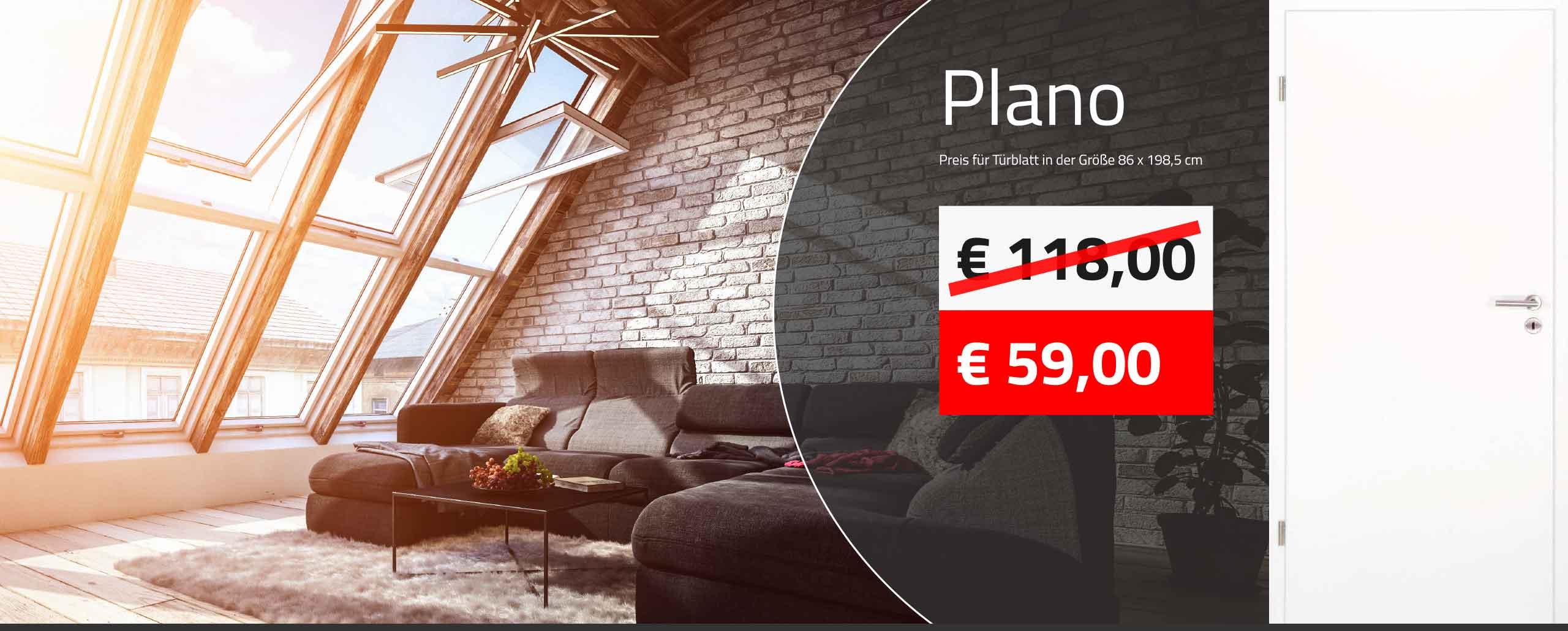 maxxdoor-Aktionspreis für glatte Weisslacktüre - nur 59 Euro