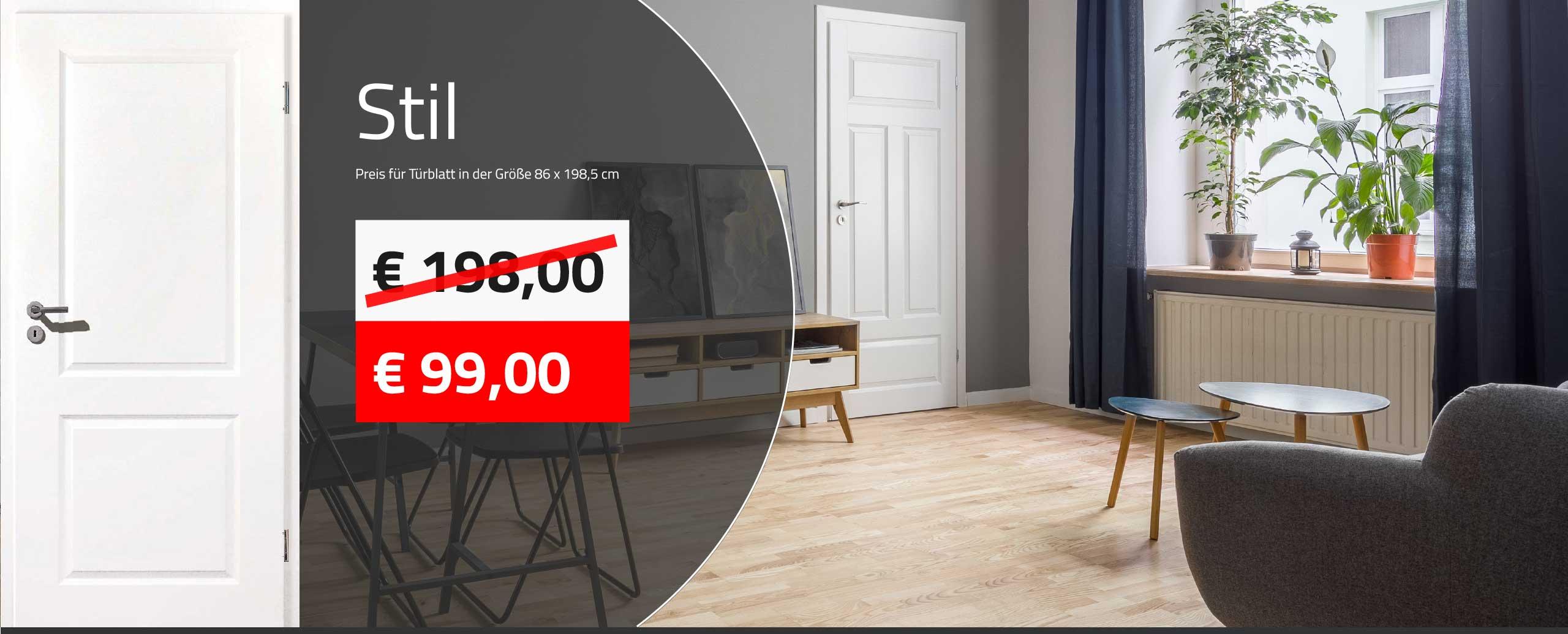 maxxdoor-Aktionsangebot für Innentüre Weisslack weiss Sil für EUR 99,00