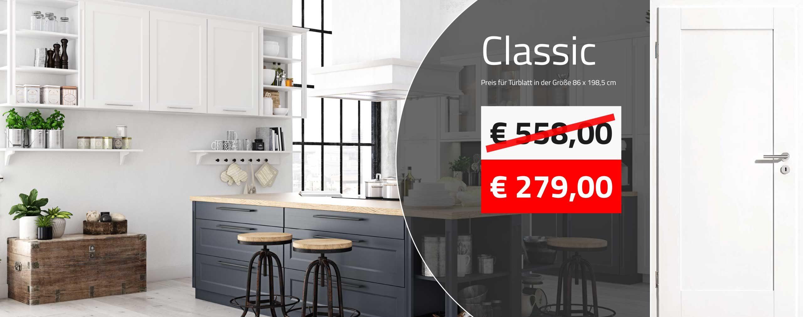Innentüren kaufen - weiße Füllungstüre mit eckigen Kanten ab 279,00 € kaufen