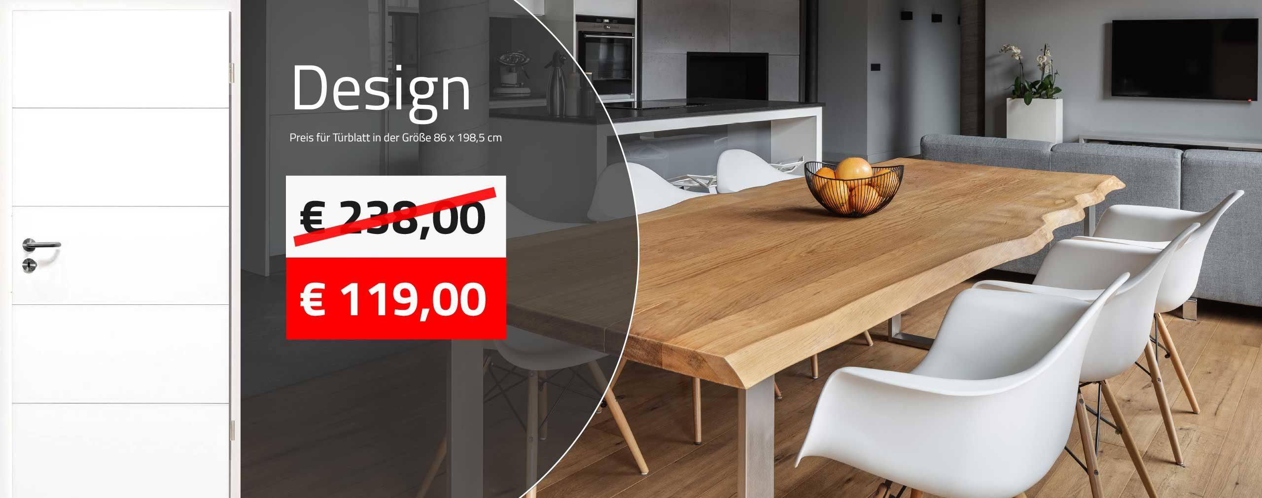 Innentüren kaufen - Design Zimmertüren ab 119,00 € kaufen